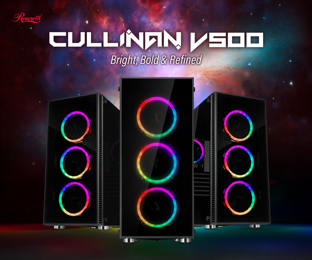 Main banner for the rosewill ATX Mid Tower cullinan v500