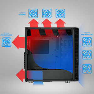 optimized airflow High and Low fan speeds to keep temperatures low