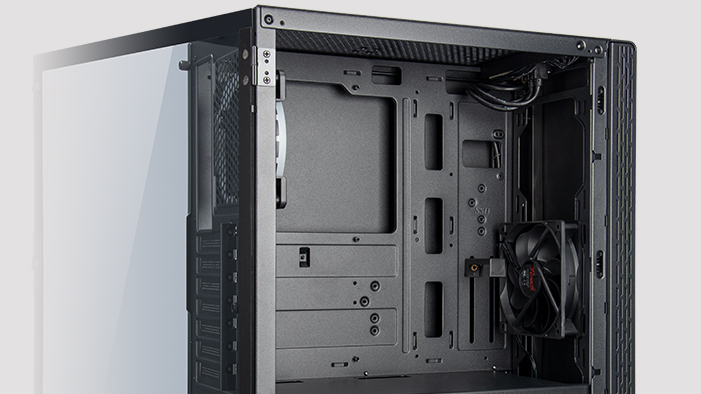 internal layout, E-ATX motherboard support of the case