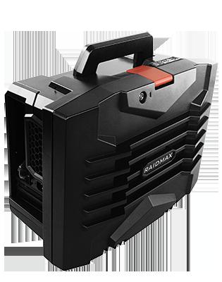 Raidmax troy itx 121b black steel plastic mini itx tower for Mobile porta pc design