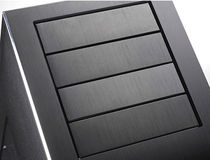 5mm thick aluminum front panel