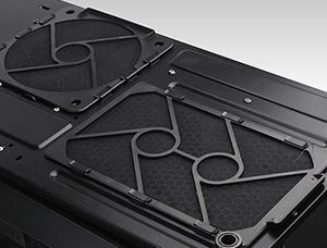 Easy-access bottom fan filters