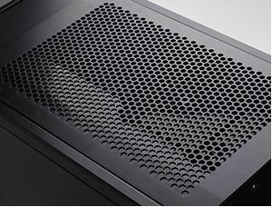 Easy-access top intake fan filter