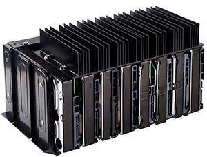 Hard drive with HDD fins