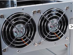 Two 80mm rear fans