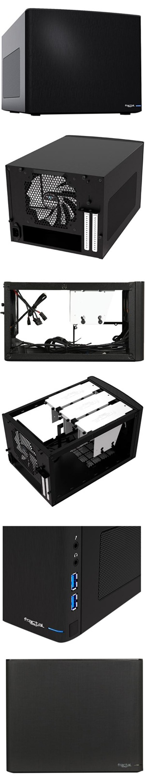 Fractal Design Node 304 Black Aluminum//Steel Mini-ITX Small Form Factor Computer