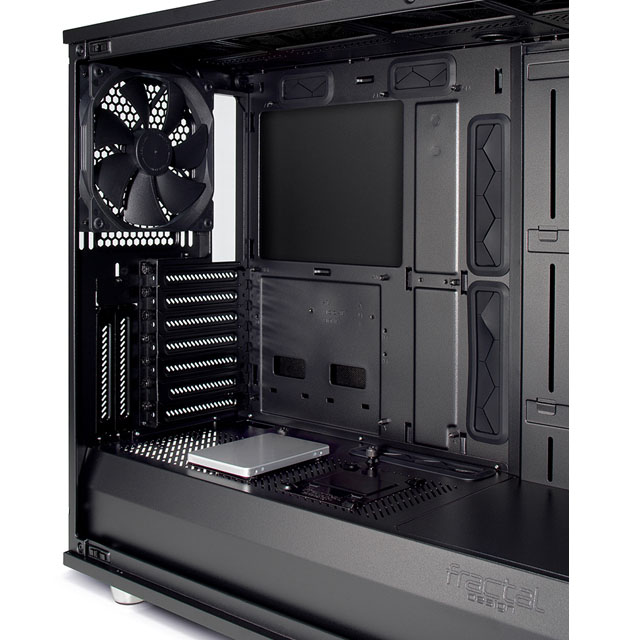 Meshify S2 unpacks the cover to see the internal structure, alternate SSD mounts and cleanly concealed cables