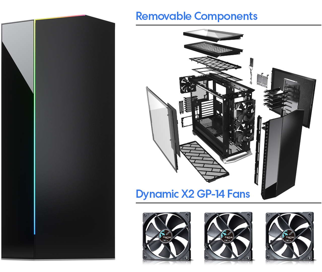 Fractal Vector RS and Removable Components and Dynamic X2 GP-14 Fans