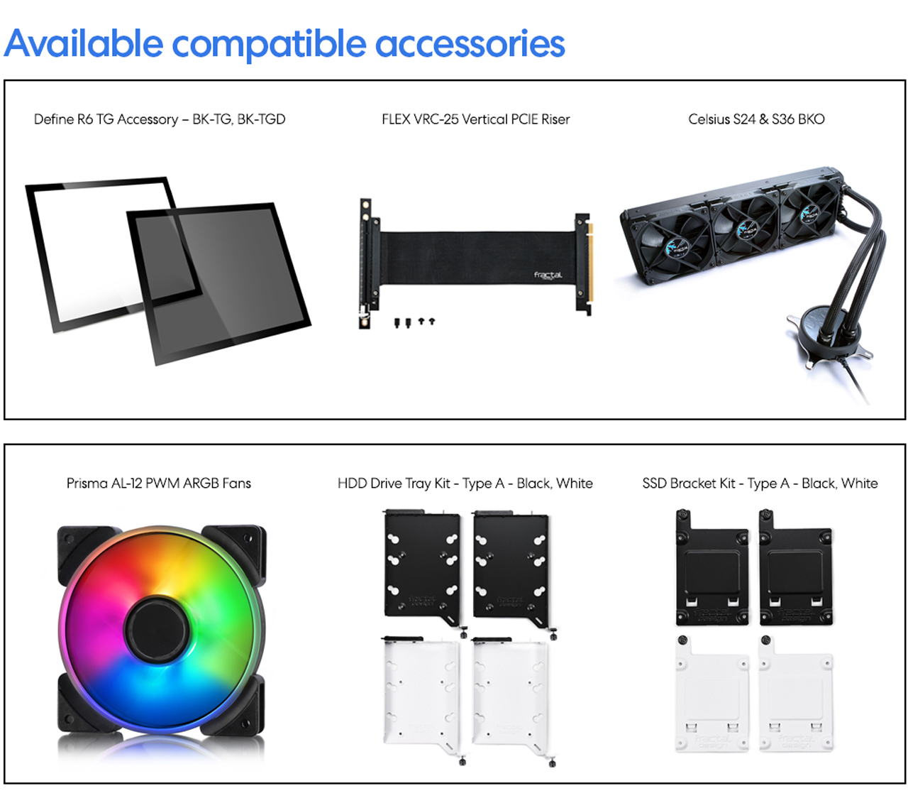 Fractal Vector RS available compatible accessories