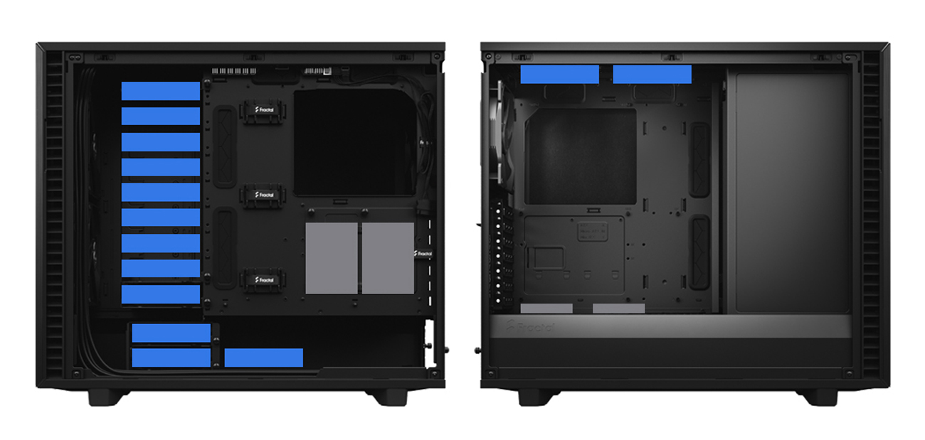 Fractal Define 7 case back view