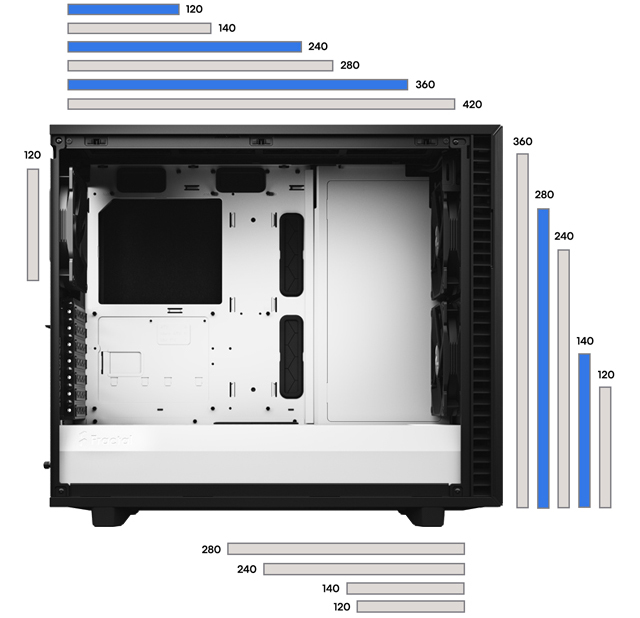Fractal Define 7 case FLEXIBLE DUAL-LAYOUT DESIGN