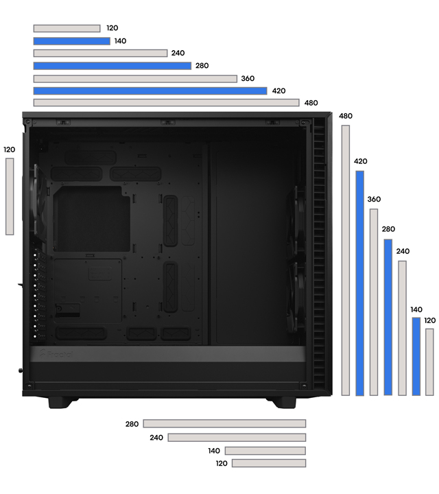 Fractal Define 7 XL case FLEXIBLE DUAL-LAYOUT DESIGN