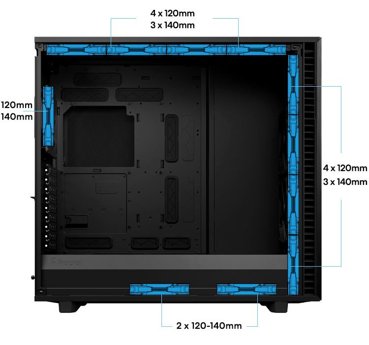 Fractal Define 7 XL case SUPERIOR AIRFLOW