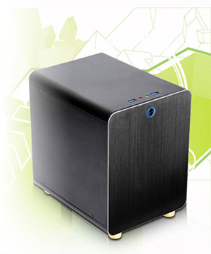 DIYPC HTPC-Cube-BK Mini-ITX Tower Computer Case