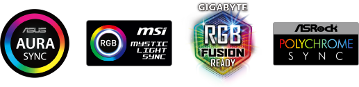 four motherboard sync software logos