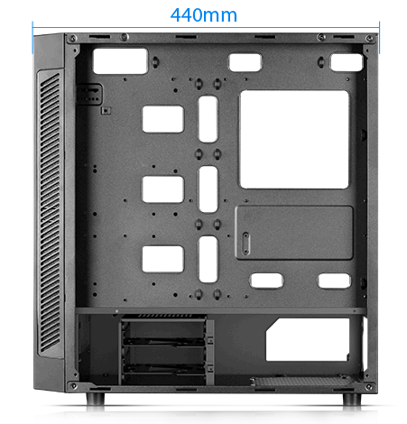 MATREXX 55 facing to the left with its side panel removed