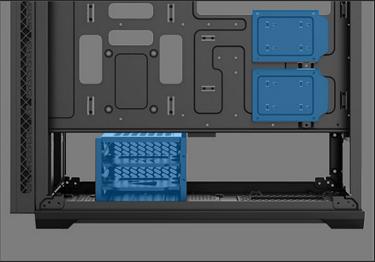Khoang đĩa cứng và không gian bên trong vỏ MATREXX 70