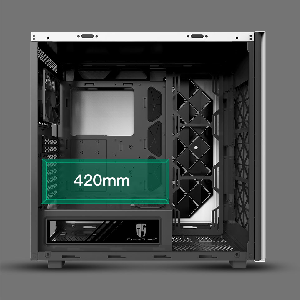 Macube 550 supports GPU vertical installation