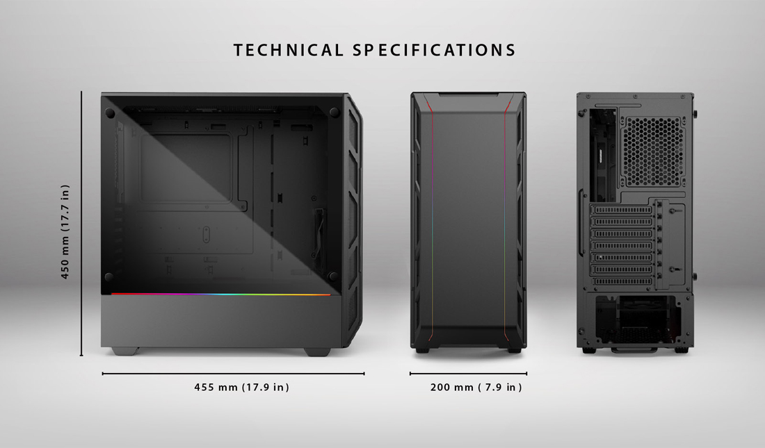 Phanteks Eclipse P350X PH-EC350PTG_DBW Black / White Compact EATX  Mid-Tower, Tempered Glass, Digital RGB Computer Case - Newegg com