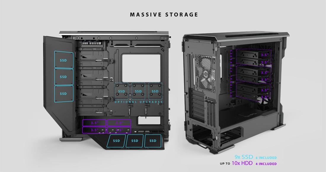Phanteks Evolv X PH-ES518XTG_DBK01 Satin Black Computer Case Satin Black  Computer Case - Newegg com