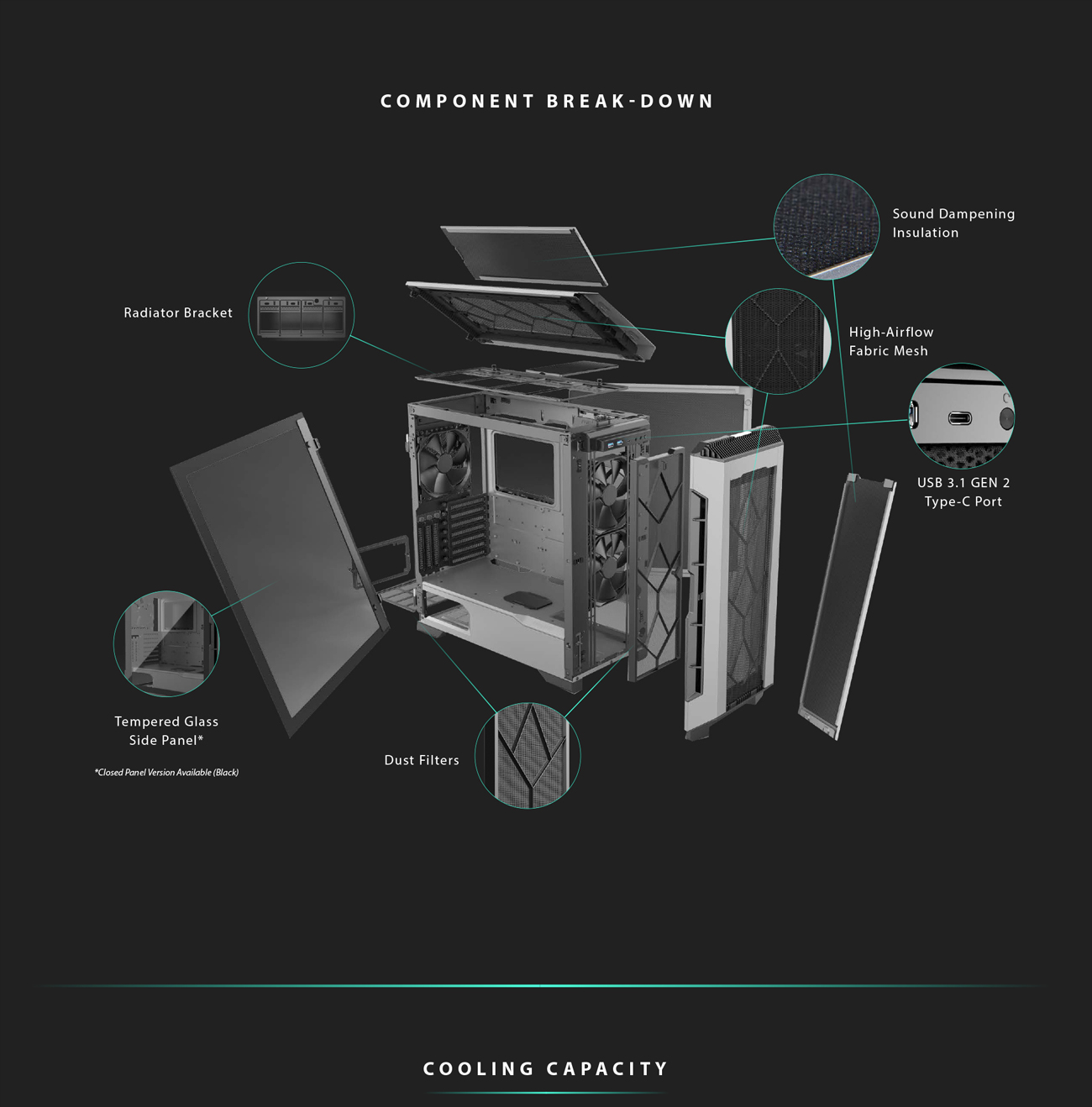 Component Breakdown Image Showing All the Pieces that Make This Case