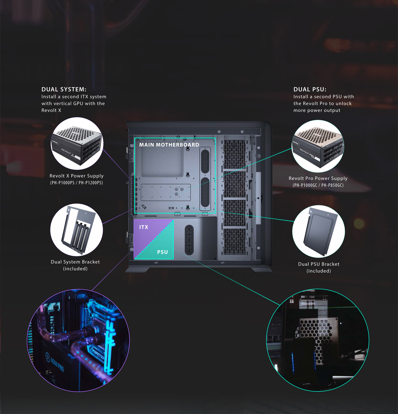 Enthoo 719 support dual system and dual psu