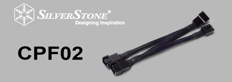 CPF02 Silverstone Tek All Black Sleeved One-to-Three PWM Fan Splitter