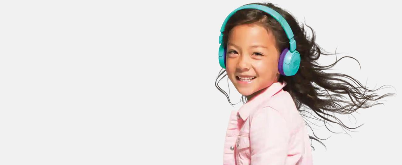 Jbl Jr 300bt Kids On Ear Wireless Headphones With Safe Sound Technology Blue Orange Newegg Com