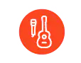 Mic and guitar icon