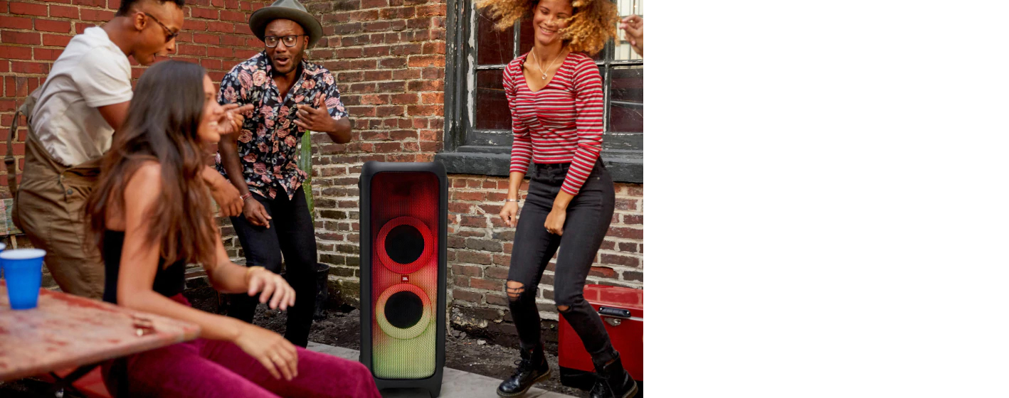 JBL PartyBox 1000 Premium High Power Wireless Bluetooth Audio System applied in daily life