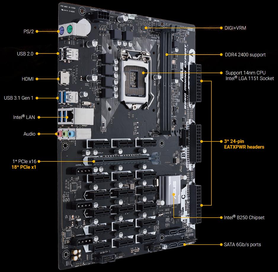 Asus B250 Mining Expert Lga 1151 Intel Hdmi Sata 6gb S Usb 31 Thermostat Wire 20 Gauge 8 250 Ft Vinyl Jacketneweggcom General Information