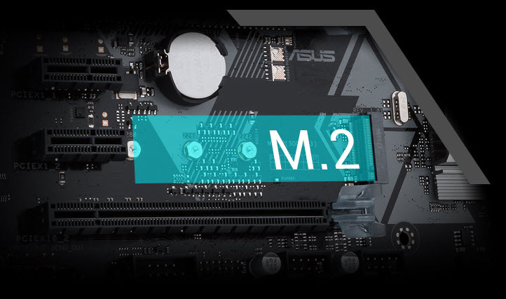 the M-key M.2 slot