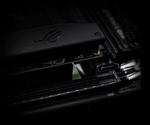 Closeup of the PCIe slot