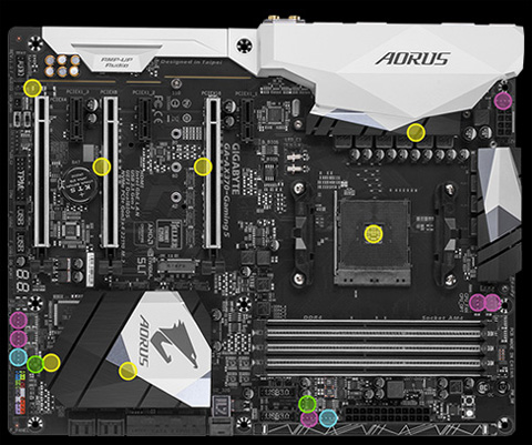 GIGABYTE GA-AX370-GAMING 5 AM4 AMD X370 SATA 6Gb/s USB 3 1 HDMI ATX  Motherboard - Newegg com