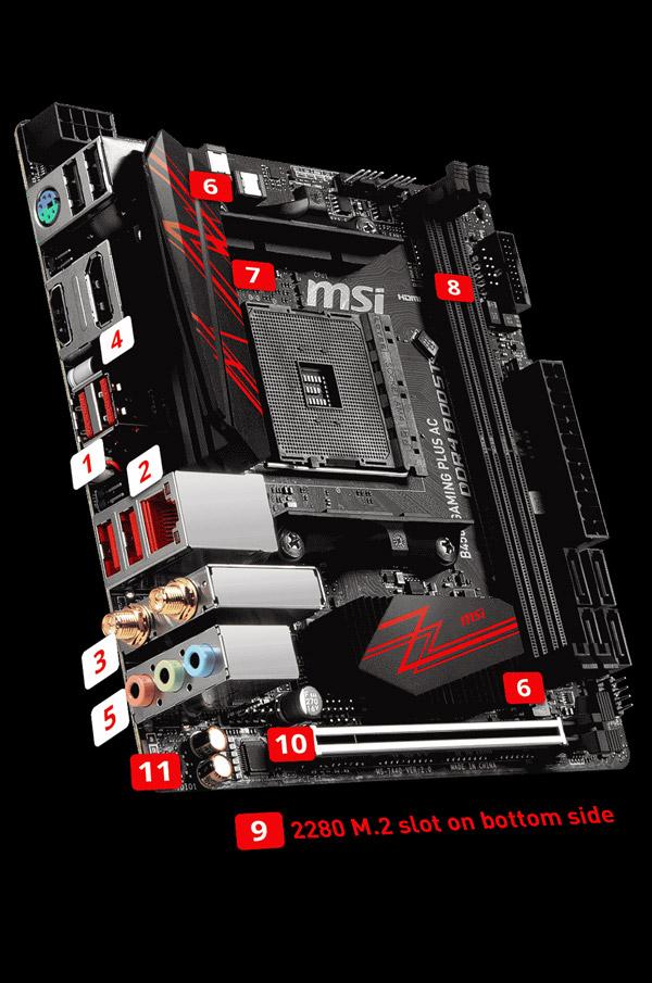 Amd Amplified Muscle Definition: MSI B450I GAMING PLUS AC AM4 AMD B450 SATA 6Gb/s USB 3.1