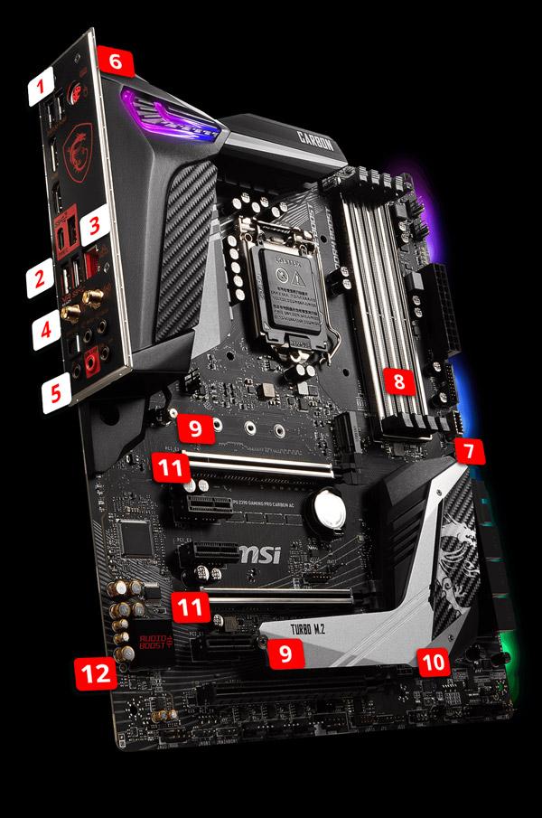 Details about MSI MPG Z390 GAMING PRO CARBON AC LGA 1151 (300 Series) Intel  Z390 HDMI SATA 6Gb