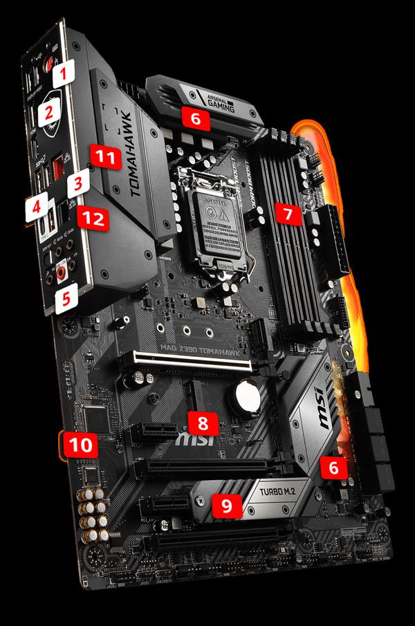 MSI MAG Z390 TOMAHAWK LGA 1151 (300 Series) ATX Intel Motherboard -  Newegg com