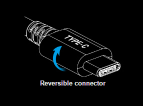 Graphic of a Reversible Type-C Connector Head