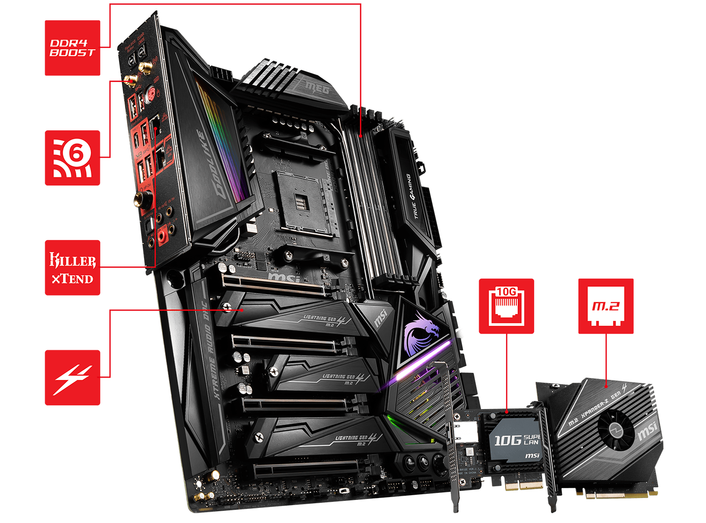 MSI MEG X570 GODLIKE AM4 Extended ATX AMD Motherboard - Newegg ca