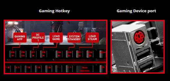 image of Gaming-Hotkey and gaming device port