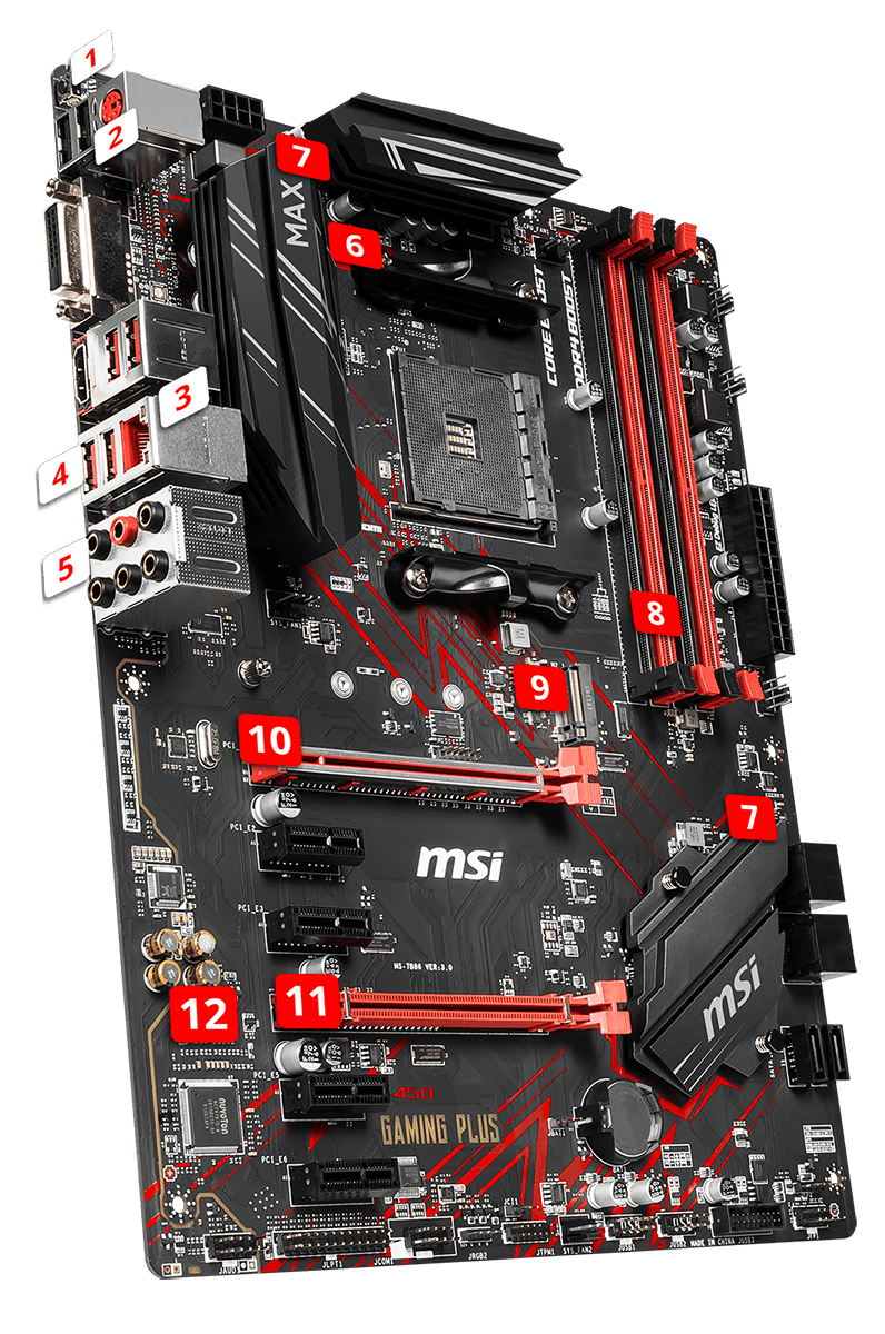 B450 GAMING PLUS MAX MOTHERBOARD