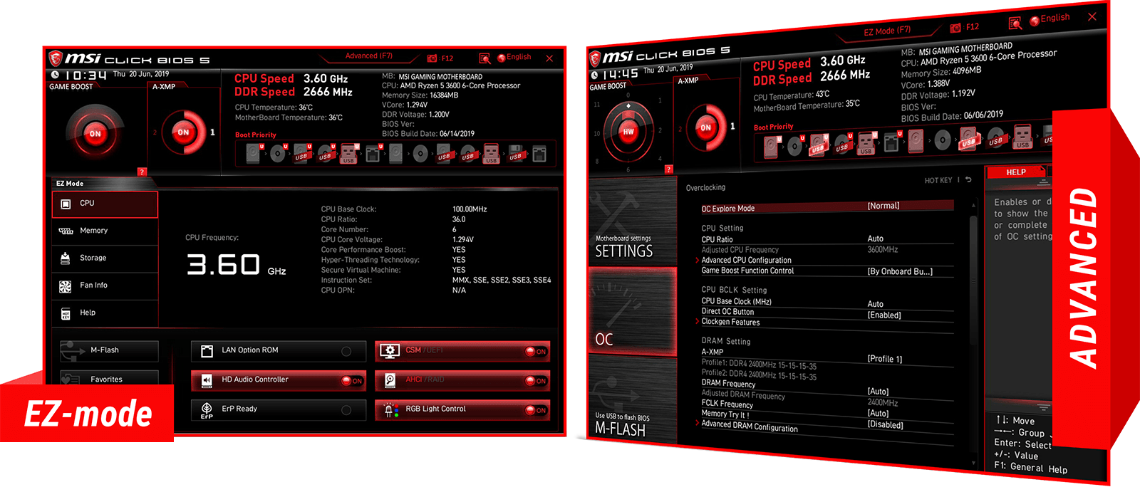 screenshot of EZ-mode and advanced