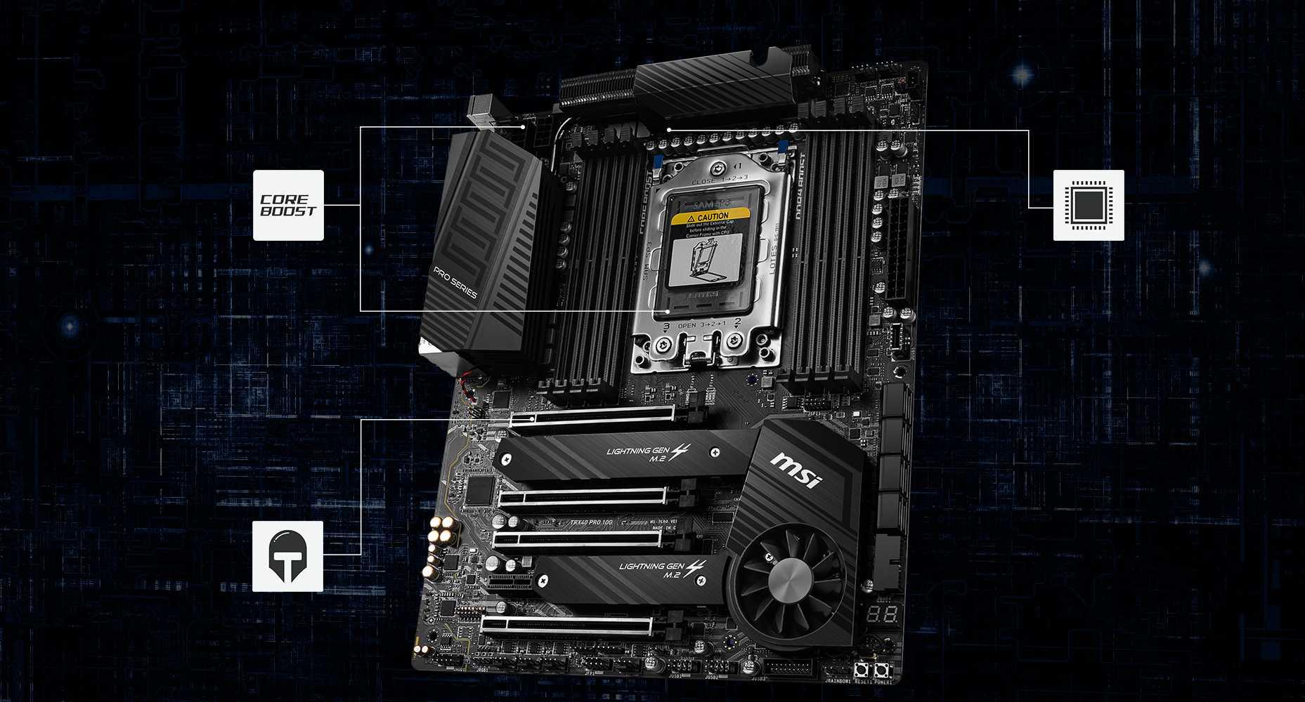 TRX40 PRO motherboard