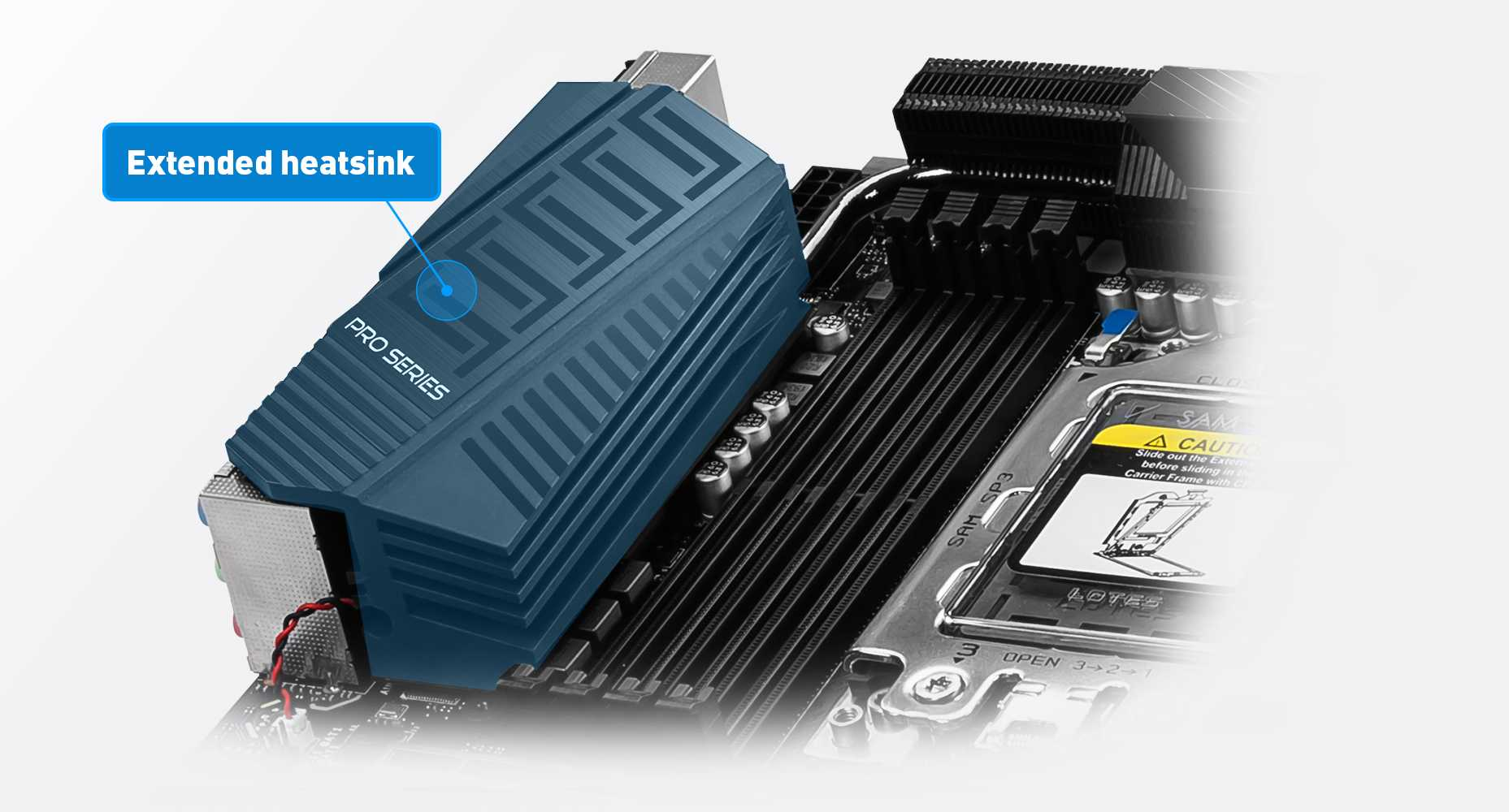 extedned  heat sink of the motherboard