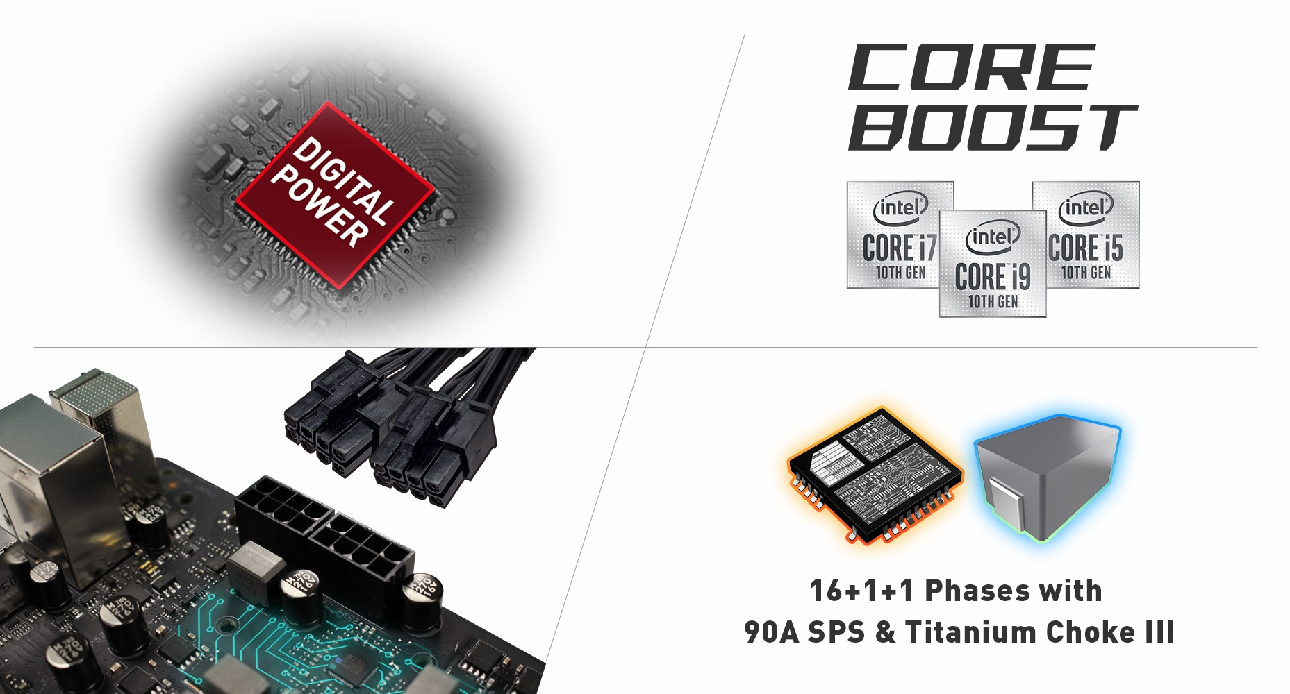 EXTREME POWER DESIGN of the motherboard