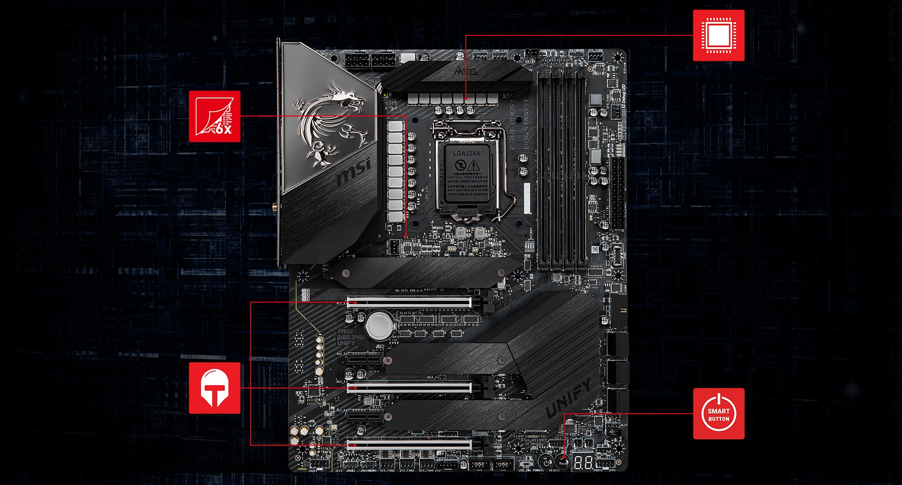 Creator z490 motherboard and a video card