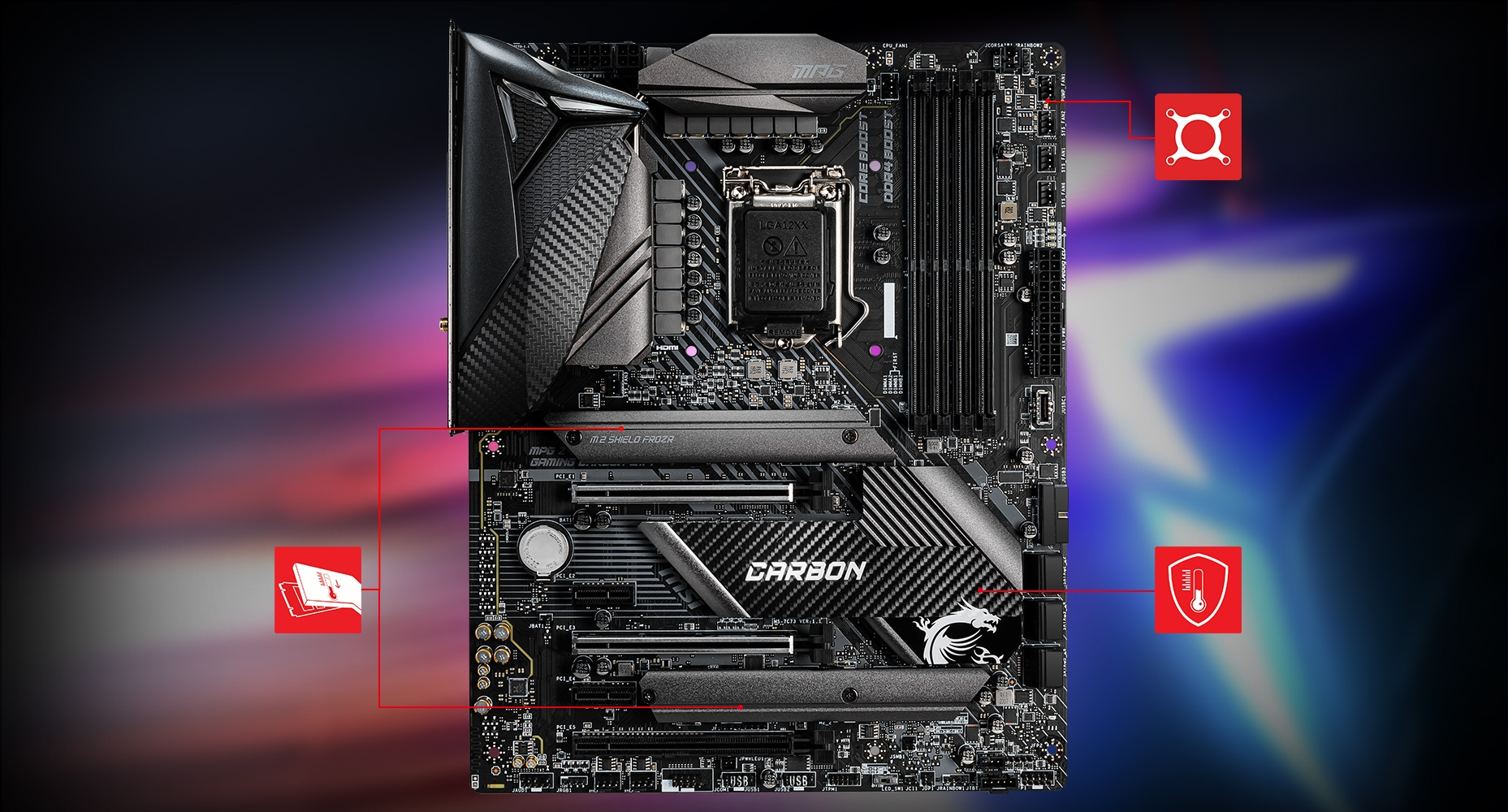 MPG Z490 GAMING CARBON WIFI motherboard