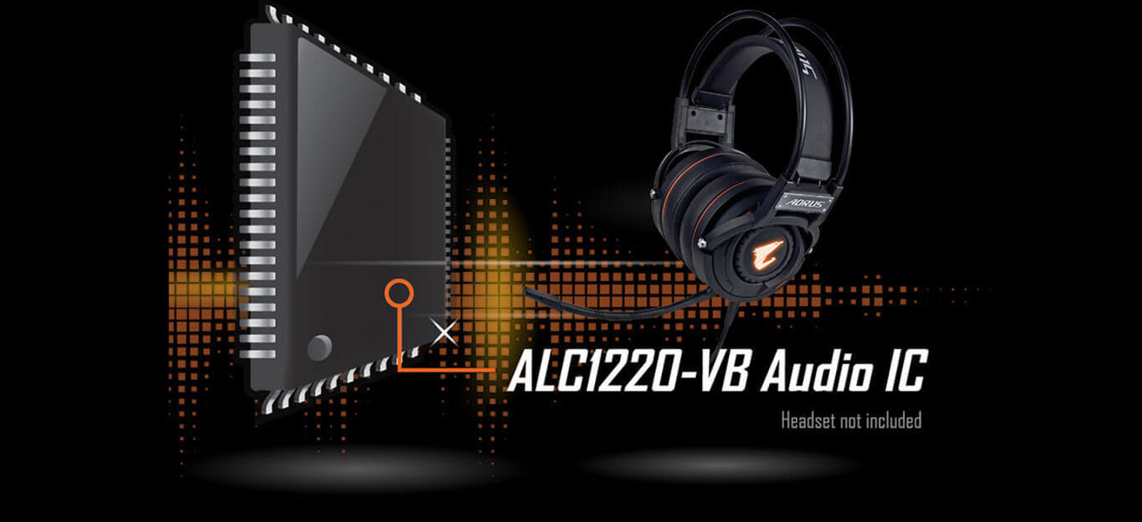 ALC1220-VB and an over-ear headset on display