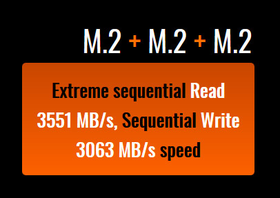 Graphic that reads M.2 + M.2 + M.2