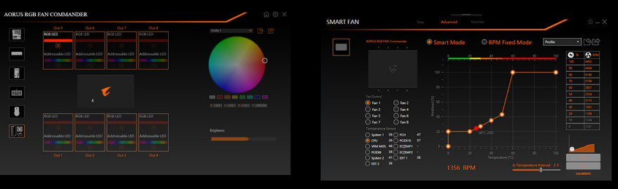 Graphical UI for Smart Fan and RGB Fan Commander